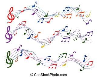 Coloridas notas musicales