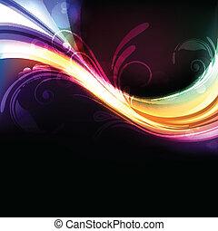 Colorido, brillante y vívido vector de fondo