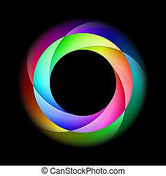 Colorido círculo espiral.