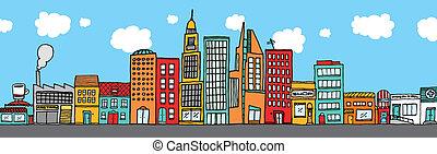 Colorido cielo de la ciudad