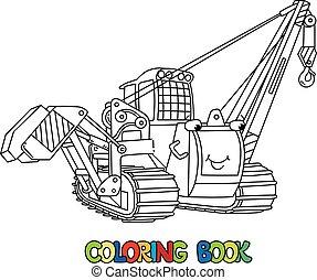 colorido, coche, libro, colocar, eyes., tubo, vehicle.