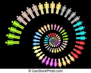 Colorido concepto de trabajo en equipo