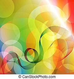 Colorido de vector abstracto