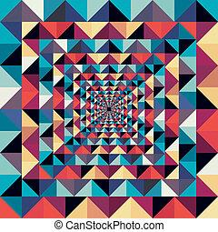 Colorido efecto visual abstracto y abstracto.