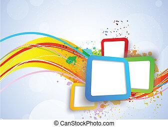 Colorido fondo con cuadrados