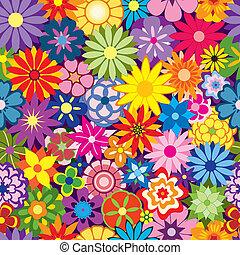 Colorido fondo de flores