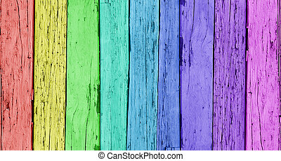 Colorido fondo de madera