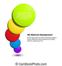 Colorido fondo del círculo 3D.