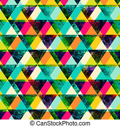 colorido, grunge, brillante, textura, style., retro, triángulos, moderno, seamless, template., acuarela, hipster, fondo., pattern., geometría, triángulo