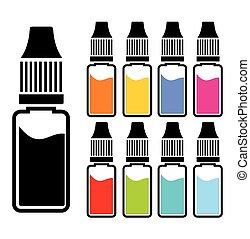 colorido, líquido, conjuntos