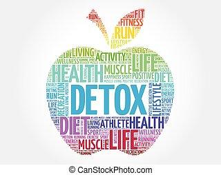 colorido, manzana, detox