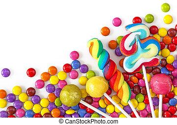 colorido, mezclado, dulces