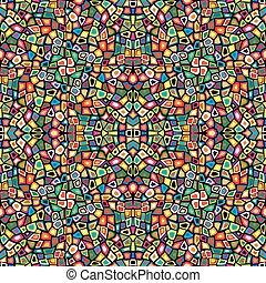 Colorido mosaico sin costura