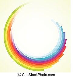 Colorido movimiento circular