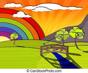 colorido, paisaje