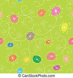 Colorido patrón floral sin marcas