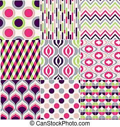 Colorido patrón geométrico