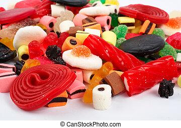 colorido, plano de fondo, dulces, detalle