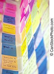 Colorido postearlo en la pared de ideas