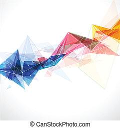 colorido, resumen, líneas, ilustración, vector, plantilla, malla