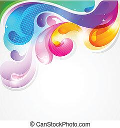 colorido, salpicadura, resumen, pintura, vector, plano de fondo