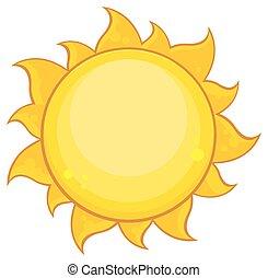 Colorido sol amarillo