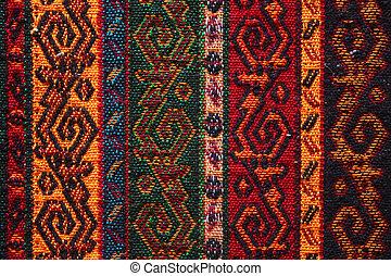 Colorido textil indio
