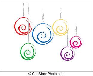 Coloridos adornos navideños