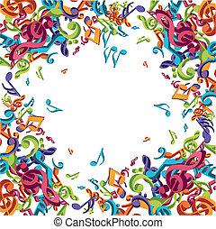 Coloridos apuntes musicales