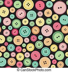 Coloridos botones de costura como un patrón sin sentido
