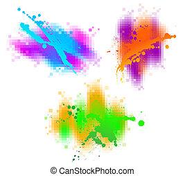 Coloridos elementos abstractos
