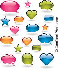 Coloridos elementos de diseño