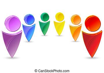 Coloridos iconos humanos