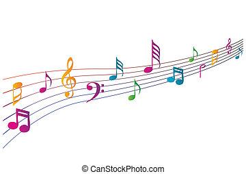 Coloridos iconos musicales