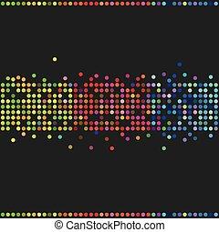 Coloridos puntos retro