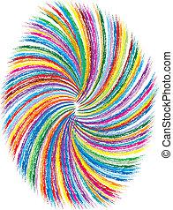 Coloridos remolinos de fondo
