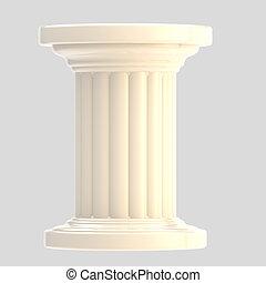 columna, blanco, pilar, aislado, brillante