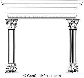 Columna griega y arco