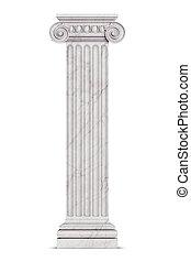 columna, griego, solo, blanco, aislado
