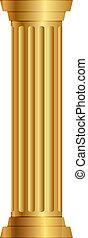 columna, oro