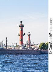 Columna Rostral y intercambio de San Petersburgo