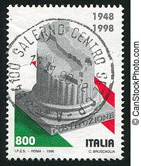 Columna y mapa de Italia