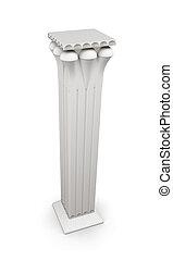 Columnas de imagen 3D aisladas en fondo blanco