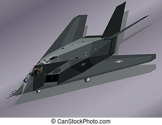 combatiente cautela, f-117, suelo