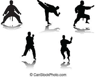 Combatientes Karate - Vector