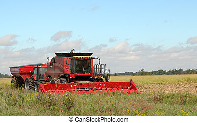Combina de granja roja