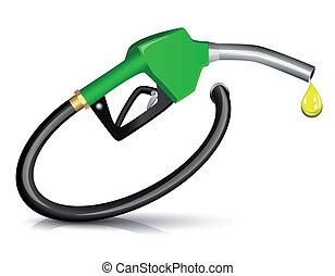 combustible, boquilla, gasolina