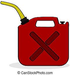 combustible, emergencia, suministro