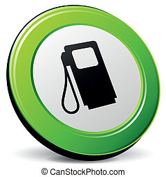 combustible, vector, 3d, icono