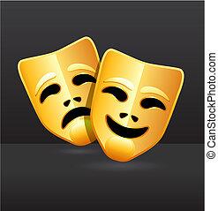 comedia, teatro, máscaras, tragedia